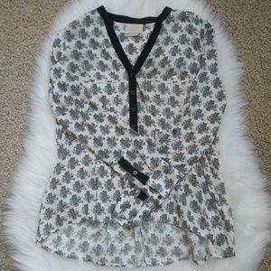 VANESSA VIRGINIA Honore Owl Print Shirt Size 0P.